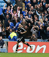 Photo: Steve Bond/Richard Lane Photography.<br />Coventry City v Chelsea. FA Cup 6th Round. 07/03/2009. Alex turns after scoring in front of the Chelsea fans