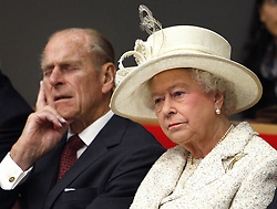 05/11/2008. Queen Elizabeth II and the Duke of Edinburgh attend a lecture during a visit to the London School of Economics and Political Science (LSE), to open the eight-storey New Academic Building. The Royal couple will celebrate their platinum wedding anniversary on November 20.