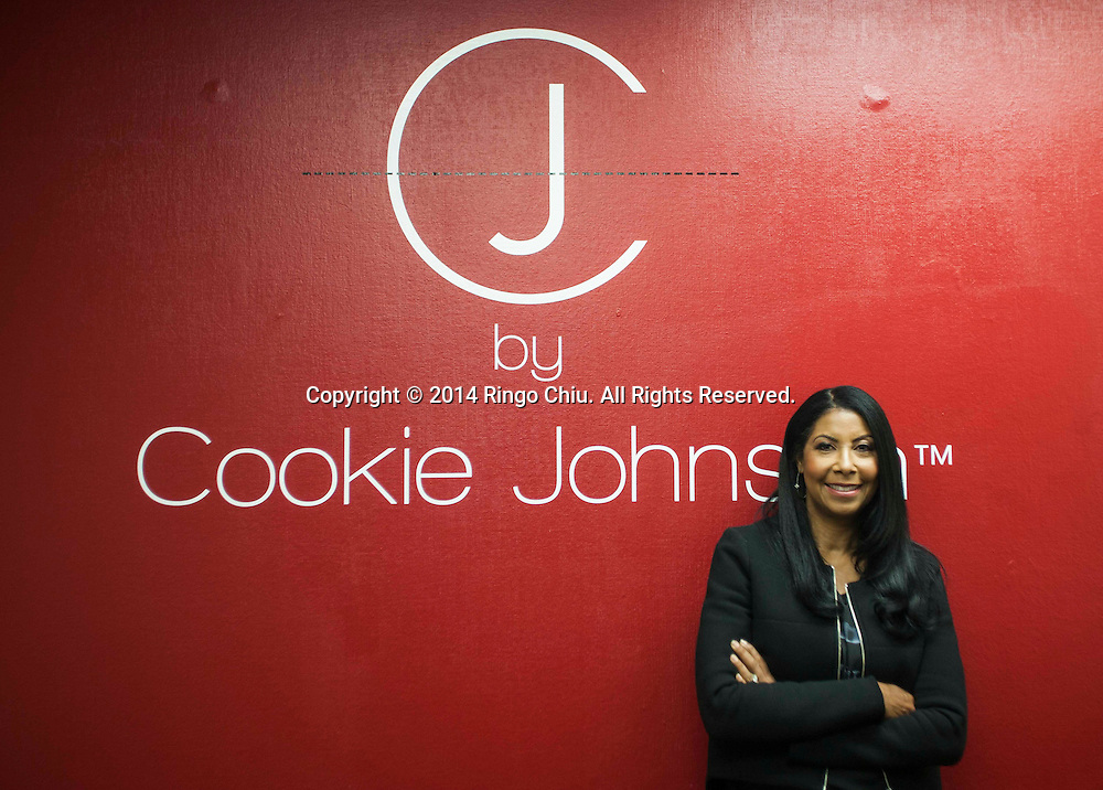 Cookie Johnson, wife of Magic Johnson and founder of CJ by Cookie Johnson jeans. (Photo by Ringo Chiu/PHOTOFORMULA.com)