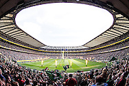 Picture by Andrew Tobin/Focus Images Ltd +44 7710 761829.25/05/2013. View of Twickenham Stadium full of fans as the teams run out before the Aviva Premiership match at Twickenham Stadium, Twickenham.