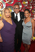 """September 18, 2012- Harlem, New York: (L-R) Celebrity Journalist Flo Anthony, Greg Cunningham, Senior Group Manager, Strategic Partnerships & Lifestyles Marketing, Target and Rachel Noerdlinger, President & CEO, Noerdlinger Mediaattends Sylvia's Restaurant 50th Anniversary Golden Jubliee Gala celebrating the life and legacy of the late Sylvia Woods and held at Sylvia's Restaurant on September 18, 2012 in the Village of Harlem, USA. The 50th Anniversary Gala salutes Sylvia's as """"the world's kitchen"""" and celebrates a legend of the historic Harlem community. With an invite-only fundraising event for 500+ guests, the night kicked-off with a lavish cocktail hour and live performances from Sylvia's A-list guests, many of whom have made Sylvia's a home away from home for the past 5 decades.(Terrence Jennings)"""