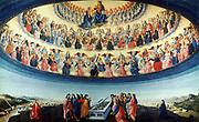 The Assumption of the Virgin'. Attributed to Francesco Botticini (1446-1497) Italian artist.