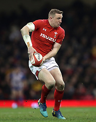 Wales' Hadleigh Parkes during the NatWest 6 Nations match at the Principality Stadium, Cardiff. PRESS ASSOCIATION Photo. Picture date: Saturday March 17, 2018. See PA story RUGBYU Wales. Photo credit should read: David Davies/PA Wire. RESTRICTIONS: Use subject to restrictions. Editorial use only. Strictly no commercial use. No use in books without prior written permission from WRU.