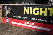 An ad for an adult entertainment show in the Slovenian capital, Ljubljana, on 25th June 2018, in Ljubljana, Slovenia.