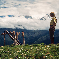 Meredith Wiltsie atop Poon Hill on around Annapruna trek, Nepal