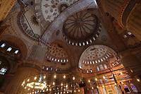 Sultanahmet (Blue) Mosque Interior, Istanbul, Turkey