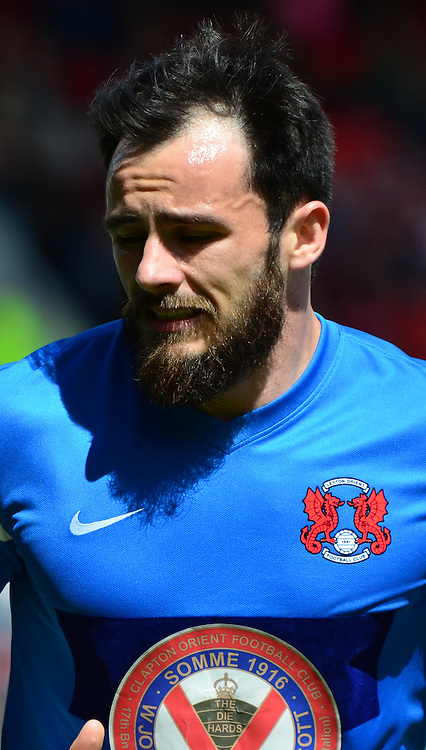 Goalscorer Chris Dagnall during the Sky Bet League 1 match between Swindon Town and Leyton Orient at the County Ground, Swindon, England on 3 May 2015. Photo by Alan Franklin.