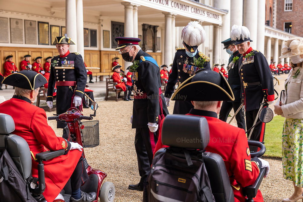Mcc0101242 . Daily Telegraph<br /> <br /> DT News<br /> <br /> Founders Day at the Royal Hospital Chelsea .<br /> <br /> <br /> His Royal Highness (HRH) The Duke of Gloucester carried out the duties of Reviewing Officer for Founder's Day .<br /> <br /> Founder's Day is the highlight of the Royal Hospital Chelsea's calendar, an event attended by all Chelsea Pensioners, which celebrates the founding of the Royal Hospital by King Charles II. The event has taken place almost every year since the Royal Hospital opened in 1692. <br /> <br /> <br /> 5 August 2021