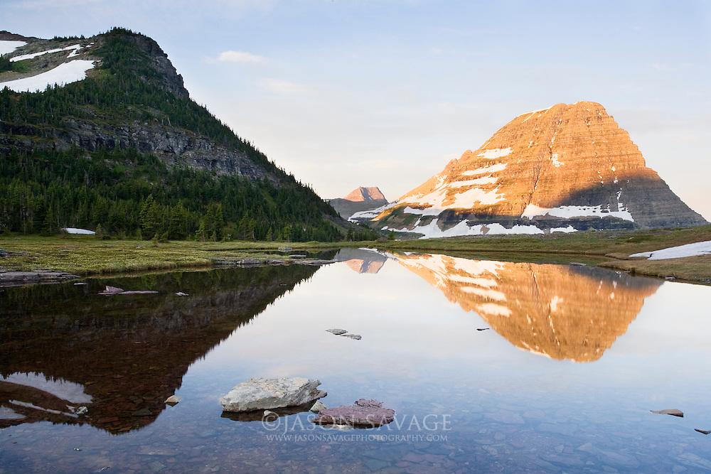 Reflections on ponds near Hidden Lake