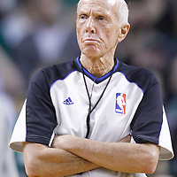 "01 April 2012: Referee Richard T. ""Dick"" Bavetta is seen during the Boston Celtics 91-72 victory over the Miami Heat at the TD Banknorth Garden, Boston, Massachusetts, USA. NOTE TO USER: User expressly acknowledges and agrees that, by downloading and or using this photograph, User is consenting to the terms and conditions of the Getty Images License Agreement. Mandatory Credit: 2012 NBAE (Photo by Chris Elise/NBAE via Getty Images)"