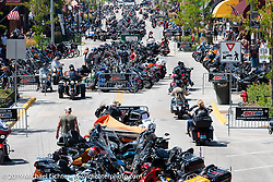 Main Street from the tower during the Sturgis Black Hills Motorcycle Rally. SD, USA. Saturday, August 10, 2019. Photography ©2019 Michael Lichter.