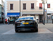 G1 registration plate Chief Minister official car Tesla Signature Model S , Gibraltar, British terroritory in southern Europe