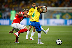 June 17, 2018 - Rostov Do Don, Rússia - ROSTOV DO DON, RO - 17.06.2018: BRAZIL VS SWITZERLAND - Denis Zakaria of Switzerland plays for Neymar Jr. of Brazil during a match between Brazil and Switzerland valid for the first round of group E of the 2018 World Cup, held at the Rostov Arena in Rostov on Don, Russia. (Credit Image: © Marcelo Machado De Melo/Fotoarena via ZUMA Press)