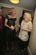 PRESENTER OF LAST YEAR'S PRIZE GRAYSON PERRY AND THIS YEAR'S PRESNETER COURTNEY LOVE, Literary Review's Bad Sex In Fiction Prize.  In & Out Club (The Naval & Military Club), 4 St James's Square, London, SW1, 29 November 2006. <br />