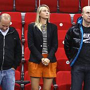 Russian player Maria SHARAPOVA (C) seen during their Turkish Basketball League match Anadolu Efes between Aliaga Petkim at Aliaga Arena in Istanbul, Turkey, Sunday, October 23, 2011. Photo by TURKPIX