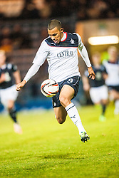 Falkirk's Phil Roberts. Dundee 1 v 1 Falkirk, Scottish Championship game at Dundee's home ground Dens Park.