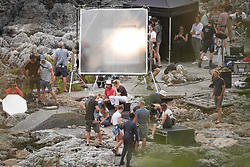 EXCLUSIVE: Léa Seydoux appears upset as she films for James Bond - No Time To Die in Southern Italy. Director Cary Fukunaga had to take the French actress aside to console her as she clutched a tissue. The scene which could be a spoiler for fans featured a gun wielding agent played by British actress Lashana Lynch looking after a mystery young child. While Lea's character had an intense chat on a walkie talkie. 25 Sep 2019 Pictured: Léa Seydoux, Cary Joji Fukunaga. Photo credit: MEGA TheMegaAgency.com +1 888 505 6342