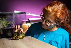 Portrait of Nika Leben, founder of Bioexo society, teaching kids about exotic animals, on May 15, 2020 in Bled, Slovenia. Photo by Vid Ponikvar / Sportida