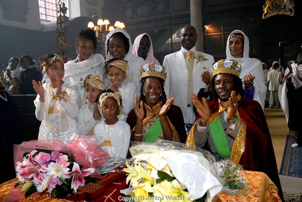 Sacrament of Matrimony at the Ethiopian Orthodox Tewahedo Church in Central London.