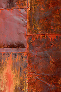 painted and rusted metal siding on old mining building, Black Hawk CO