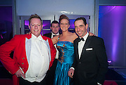 JAMIE NICKLIN; ( WILLIAM SHAW BEHIND ) FIONA DAVIDSON; ANDREW BERRY, Quorn Hunt Ball, Stanford Hall. Standford on Soar. 25 January 2014