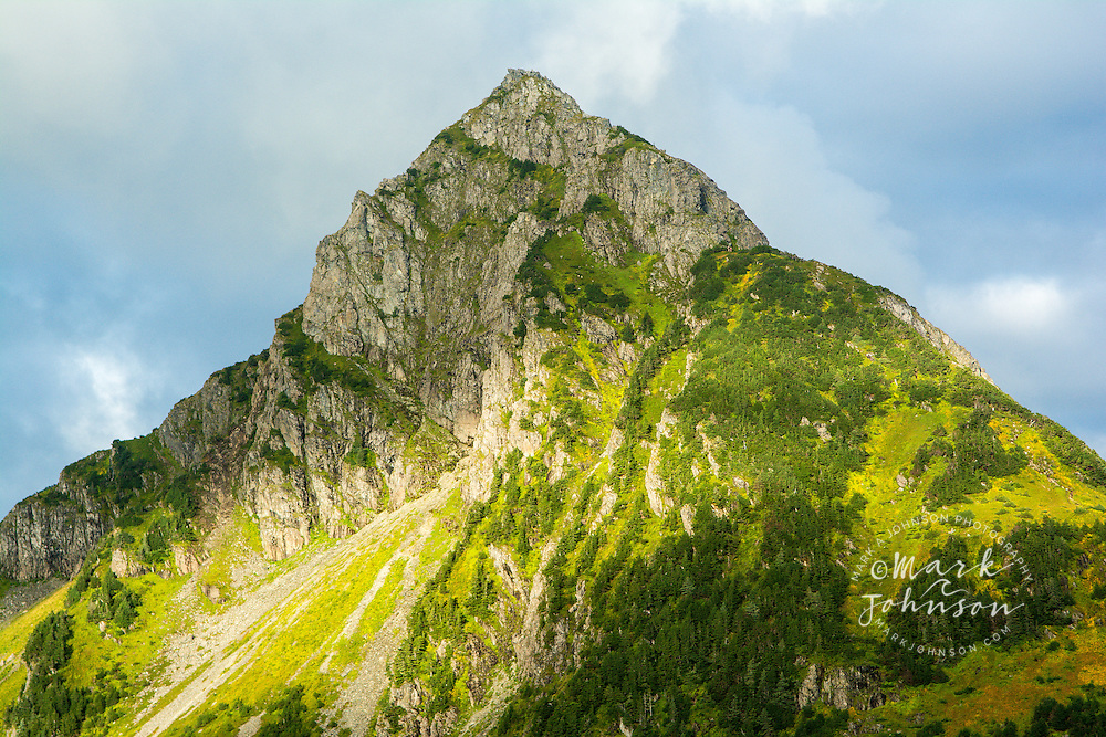 Arrowhead Mountain seen from the summit of Mt. Verstovia, Sitka, Alaska, USA