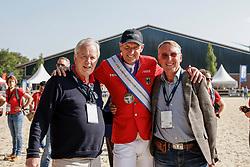 RIESENBECK - FEI Jumping European Championship Riesenbeck 2021<br /> <br /> HEIDENREICH Ulrich (Mitbesitzer Chakaria), THIEME Andre (GER), THIEME Michael<br /> Impressionen am Abreiteplatz<br /> Second Qualifying Competition - Round 2 <br /> Team Final<br /> <br /> Hörstel-Riesenbeck, Reitanlage Riesenbeck International<br /> 03. September 2021<br /> © www.sportfotos-lafrentz.de/Stefan Lafrentz