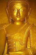 A golden buddha at the Shwe In Dein pagoda complex near Inle Lake, Myanmar