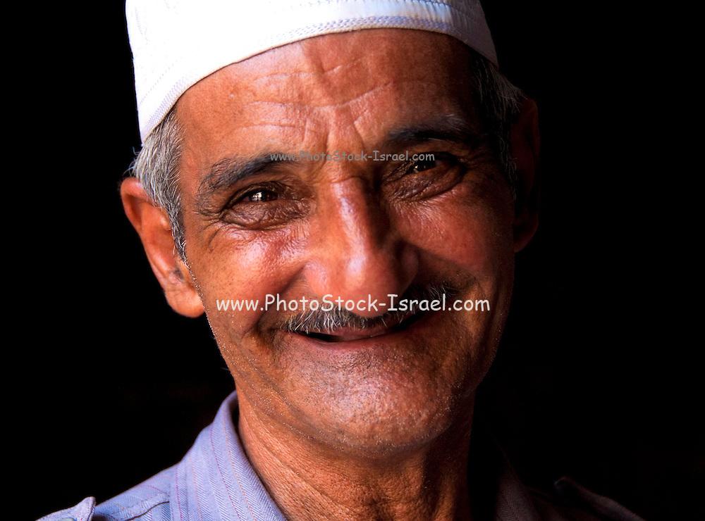 Portrait of a smiling Arab man in Jerusalem, Israel