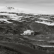 Shackleton's Hut at Cape Royds, Antarctica. From this hut Shackleton trekked to within 90 miles of the South Pole, before being turned back by lack of food. A round trip trek of about 1,500 miles that made his name as a polar explorer.
