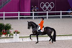 TOKYO - Olympische Spiele / Olympic Games 2021<br /> <br /> van BAALEN Marlies (NED), Go Legend<br /> Grand Prix de Dressage<br /> <br /> Tokio, Equestrian Park<br /> 25. July 2021<br /> © www.sportfotos-lafrentz.de/Stefan Lafrentz