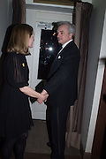Prince & Princess Stefan Ratibor, Nicky Haslam hosts dinner at  Gigi's for Leslie Caron. 22 Woodstock St. London. W1C 2AR. 25 March 2015