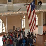 Tour Group at Ellis Island