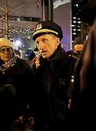 Boston, MA 12/09/2011.Boston Police Superintendent William Evans explains to news media members  that despite the passage of the city's deadline to vacate Dewey Square, no raid will take place tonight..Alex Jones / www.alexjonesphoto.com