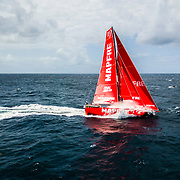 Leg 8 from Itajai to Newport, day 12 on board MAPFRE, drone shot. 03 May, 2018.