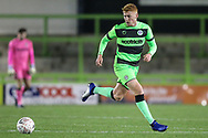 Forest Green Rovers Matthew Worthington(21) on the ball during the The FA Cup 1st round replay match between Forest Green Rovers and Oxford United at the New Lawn, Forest Green, United Kingdom on 20 November 2018.