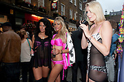 RACHEL HOWARD; SAMANTHA SCARBOROUGH; JENNIFER ROSE BAKER;, Dirty Pretty Things - summer party. Lingerie line hosts  party celebrating its new online shop and showcasing the latest collection. The Lingerie Collective, 8 Ganton Street, Soho. London, 15 June 2011<br /> <br />  , -DO NOT ARCHIVE-© Copyright Photograph by Dafydd Jones. 248 Clapham Rd. London SW9 0PZ. Tel 0207 820 0771. www.dafjones.com.
