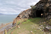 A rail tunnel at Mountain Stage on the Ring of Kerry where the Dublin to Cahersiveen train passed by Dingle Bay. The last train to cross the bridge was in 1960. The route is one of the proposed 'greenway routes' for walkers and cyclists.<br /> Picture by Don MacMonagle.