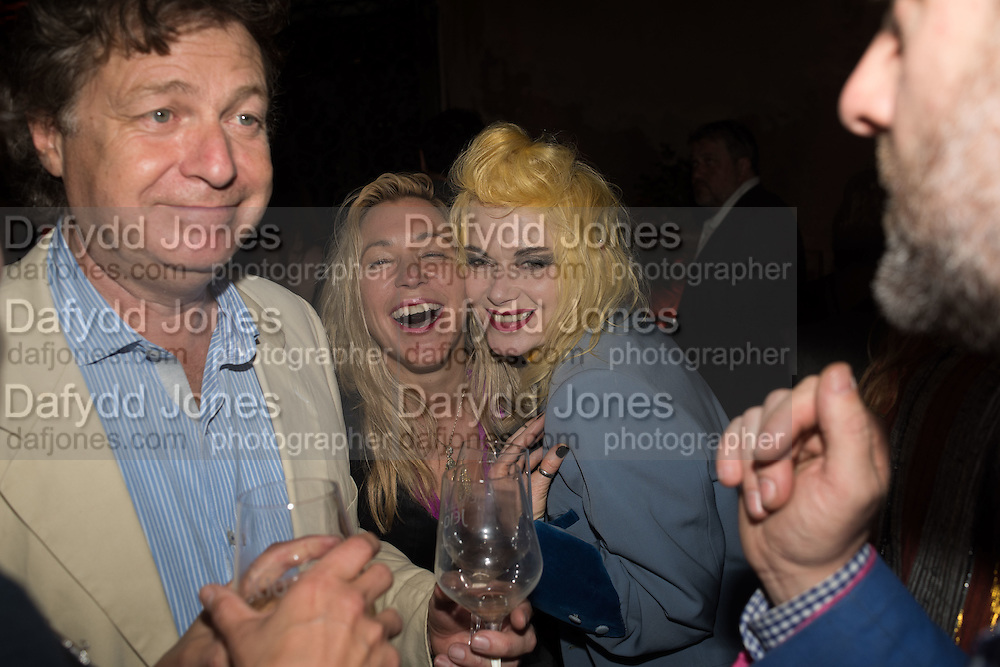 DANNY MOYNIHAN; MAYA  HIRST; PAM HOGG, Sarah Lucas- Scream Daddio party hosted by Sadie Coles HQ and Gladstone Gallery at Palazzo Zeno. Venice. 6 May 2015.