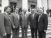 Fianna Fáil's candidates handing in nomination papers for Euro-election at Courthouse, Cork,<br />