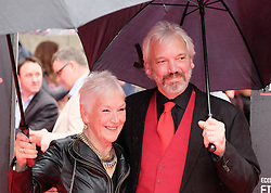 "Edinburgh International Film Festival, Sunday 26th June 2016<br /> <br /> Stars turn up on the closing night gala red carpet for the World Premiere of ""Whisky Galore!""  at the Edinburgh International Film Festival 2016<br /> <br /> Ann Louis Ross who plays Mrs Campbell in the film with Nils den Hertog<br /> <br /> (c) Alex Todd 