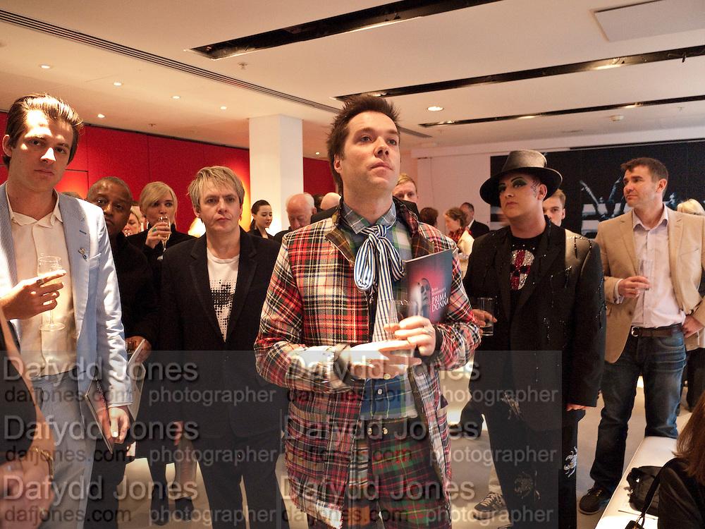 MARK RONSON; NICK RHODES; RUFUS WAINWRIGH; BOY GEORGE; IVAN MASSOW, , Prima Donna opening night. Sadler's Wells Theatre, Rosebery Avenue, London EC1, Premiere of Rufus Wainwright's opera. 13 April 2010