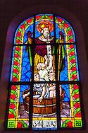 Stainglass in Cock Church, Da Lat, Vietnam, Southeast Asia