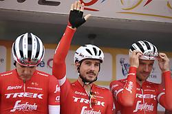 February 14, 2018 - Lagos, Portugal - John Degenkolb of Trek-Segafredo before the 1st stage of the cycling Tour of Algarve between Albufeira and Lagos, on February 14, 2018. (Credit Image: © Str/NurPhoto via ZUMA Press)