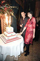 IRAKLI SOPROMADZE owner of the Criterion and DAISY LOWE at a party to celebrate the 135th anniversary of The Criterion restaurant, Piccadilly, London held on 2nd February 2010.