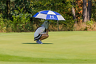 21-07-2018 Pictures of the final day of the Zwitserleven Dutch Junior Open at the Toxandria Golf Club in The Netherlands.  Caddie Zhimeng ZHAO of China taking shelter for the sun