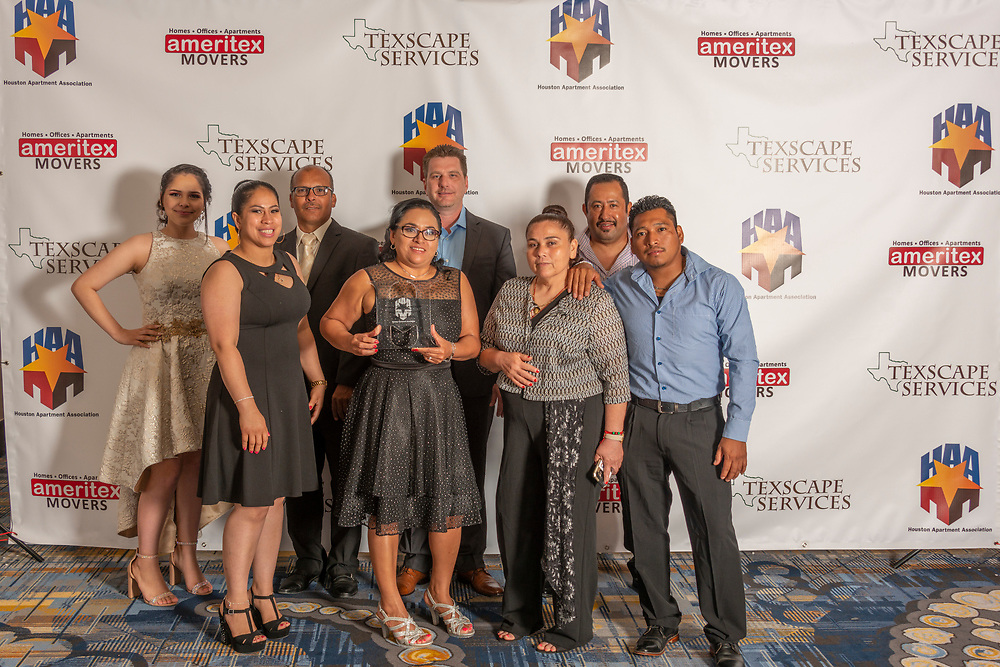 On Thursday, June 13, the Houston Apartment Association presented the 2019 Honors Awards. Held at Hilton Americas Houston hotel, this annual event recognizes the best and the brightest in the Houston multifamily housing industry. Awards are presented for individuals and for properties.