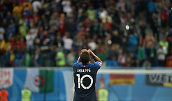 SAINT PETERSBURG, July 10, 2018  Kylian Mbappe of France celebrates victory after the 2018 FIFA World Cup semi-final match between France and Belgium in Saint Petersburg, Russia, July 10, 2018. France won 1-0 and advanced to the final. (Credit Image: © Li Ming/Xinhua via ZUMA Wire)