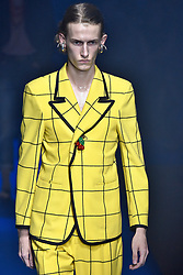 Model Emil Andersen walks on the runway during the Gucci Fashion Show during Milan Fashion Week Spring Summer 2018 held in Milan, Italy on September 20, 2017. (Photo by Jonas Gustavsson/Sipa USA)