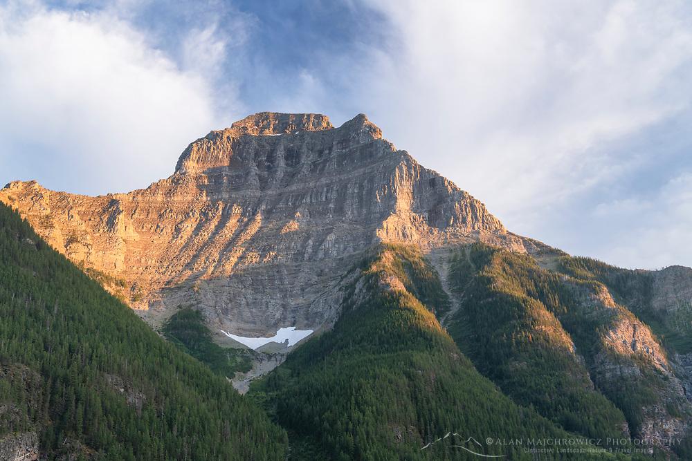 Kinnerly Peak Upper Kintla Lake Glacier National Park Montana